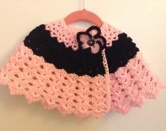 Crochet baby cape 6-9 months