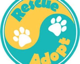 Car magnet - Rescue/Adopt