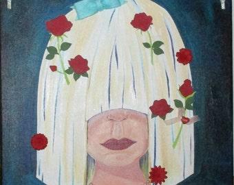 Acrylic Painting, Mixed Media, Face