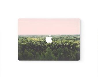 MacBook Top Front Lid Cover MacBook Decal MacBook Skin MacBook Sticker Air/Pro/Retina Touch Bar 11 12 13 15 17 inch   Forest View