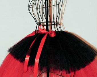 Ready To Ship !!! Ships in 1-2 business days...Beautiful Red and Black USA Tulle tutu.