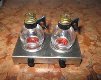 Restaurant Style Coffeepot Salt Pepper Set Retro 50's to 70's! #BV