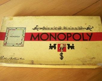 Antique Vintage Monopoly Game