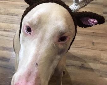 Reindeer Antlers for your dog, Dog hat, Animal Hat, Christmas hat, dog Christmas hat, Reindeer Antlers, Dog antlers