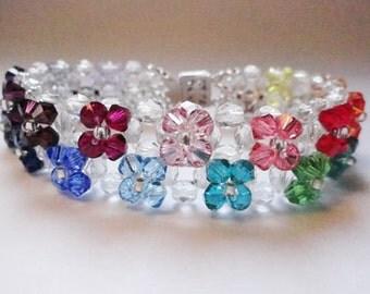 Flowers swarovski bracelet