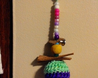 Purple and Bright Green crotched Bird Toy