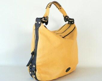Large Yellow Hobo Shoulder Bag