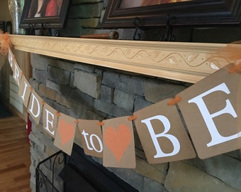 Bride To Be Banner with Custom Colors