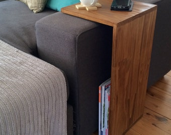 End Table - side table - besdide table - sofa table - accessory table - breakfast table tray - walnut - timber