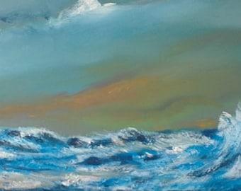 A wave, oil painting, original art, original wall art