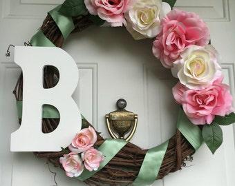 Pink and Cream Rose Wreath