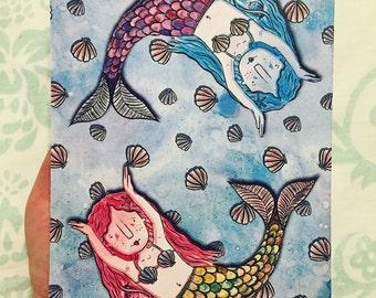A4 Mermaid Print
