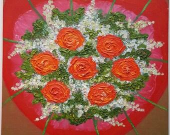 Bride's Bouquet (original oil painting)