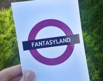 Fantasyland Postcard Art Print