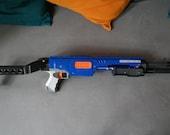 NERF Blaster Raider/rampage spas 12 / shotgun adapter complete mod