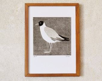 black-headed gull · original linocut · Limited Edition · DIN A5