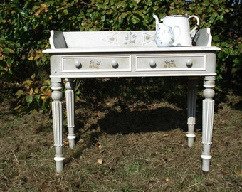 19th century marble topped painted washstand