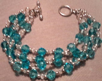 Swarovski Bracelet, Swarovski Blue Crystal Bracelet