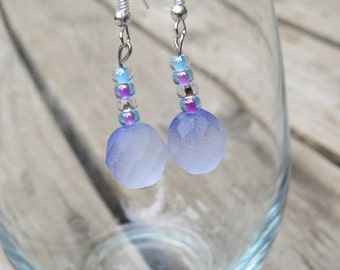 fading purple earrings