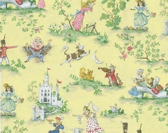 Over the Moon Yellow Children Baby Nursery, Fabric Printed Decorative Home Decor