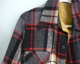 Late 1940s-Early 1950s Hunting Jacket / Lined Flannel Wool Coat / Modern Size Large to Extra Large