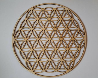 Flower of life, flower of life, tree of life, laser cut wood, wood, tennis, yoga,