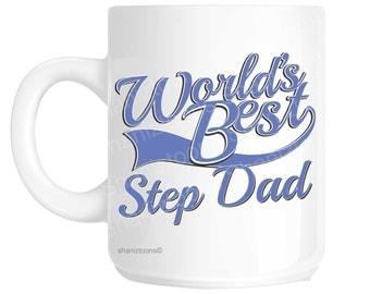 Step Dad World's Best Blue Father's Day Novelty Gift Mug shan840