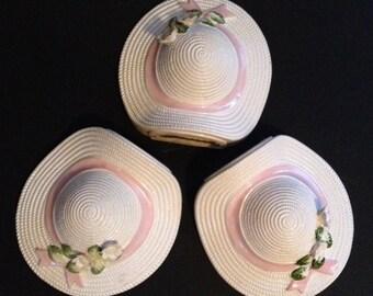 Porcelain bonnets, wall hangings