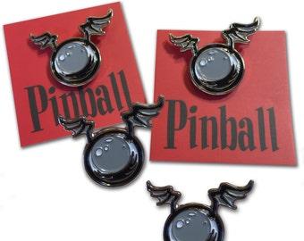 Flying Pinball Enamel Pin