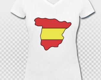 España Spain shirt with flag and country