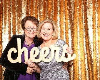 Cheers Photo Prop for Weddings Photos, Wedding Photo Booths, and Celebrations!
