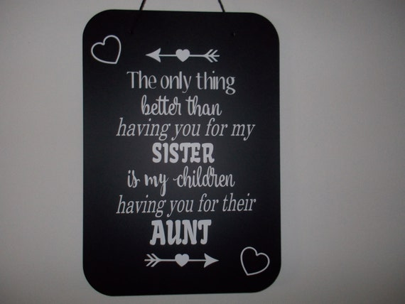 Personalized Aunt decal customized board sisters love for a new aunt Birthday Gift