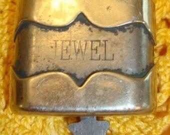 Vintage Jewel Lock With Key