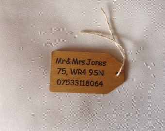 Personalised Hands off luggage or bag tag.