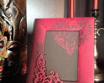 Shabby red frame