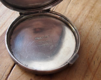 ON SALE-Vintage sterling Tiffany & Co. round compact- all sterling- trinket box-WAS 195