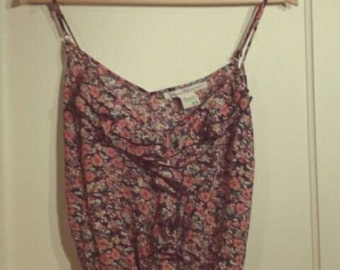 American Rag Floral Tank Top Size XSmall