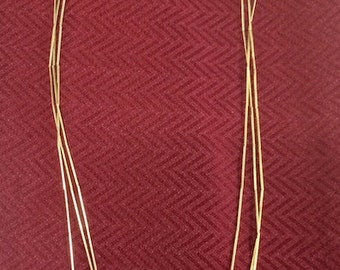1980s Gold Cut Wire Necklace