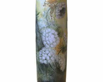 Antique T V Limoges France Vase Hand Painted