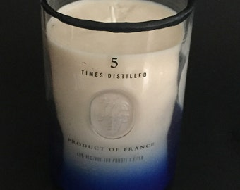Ciroc Snap Frost Blue Liquor Candle - Choose Scent, Wick and Rim!