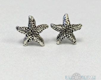 925 Sterling silver Starfish Stud Earrings. US@GEMS