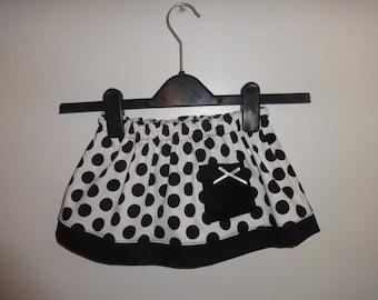Little girls polka dot skirt