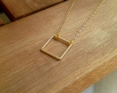 Free shipping. Square. Necklace.