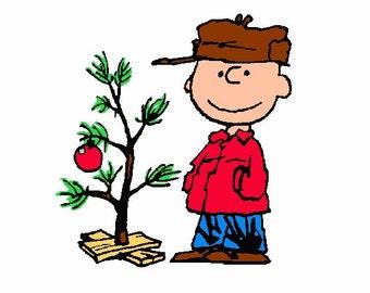 Charlie Brown Christmas Tree Embroidery Design