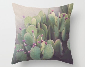 outdoor pillows, cactus pillows, southwest decor, prickly pear, cactus decor, western decor, texas decor, weather resistant, beach pillow