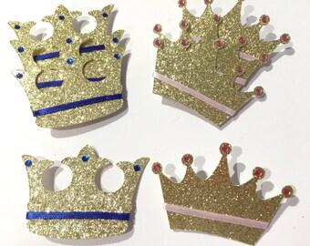 Prince or princess gender reveal pins, gender reveal pins, gender reveal party, prince or princess pins, crown pins, baby shower pins