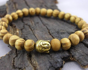 Buddha bracelet and wooden beads