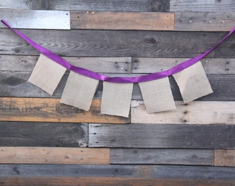Design your own Burlap Banner, Choose shape, color, and number of pieces