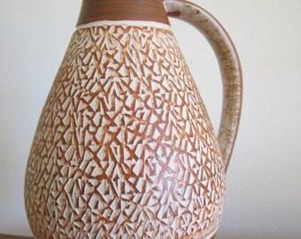Vintage Pottery 70's West German Vase Mold # 335-18 Pitcher Shape