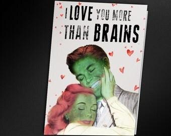 Zombie Valentine Card - PRINTABLE CARD